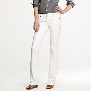 J. Crew Bootcut Jean in white denim size: 29S